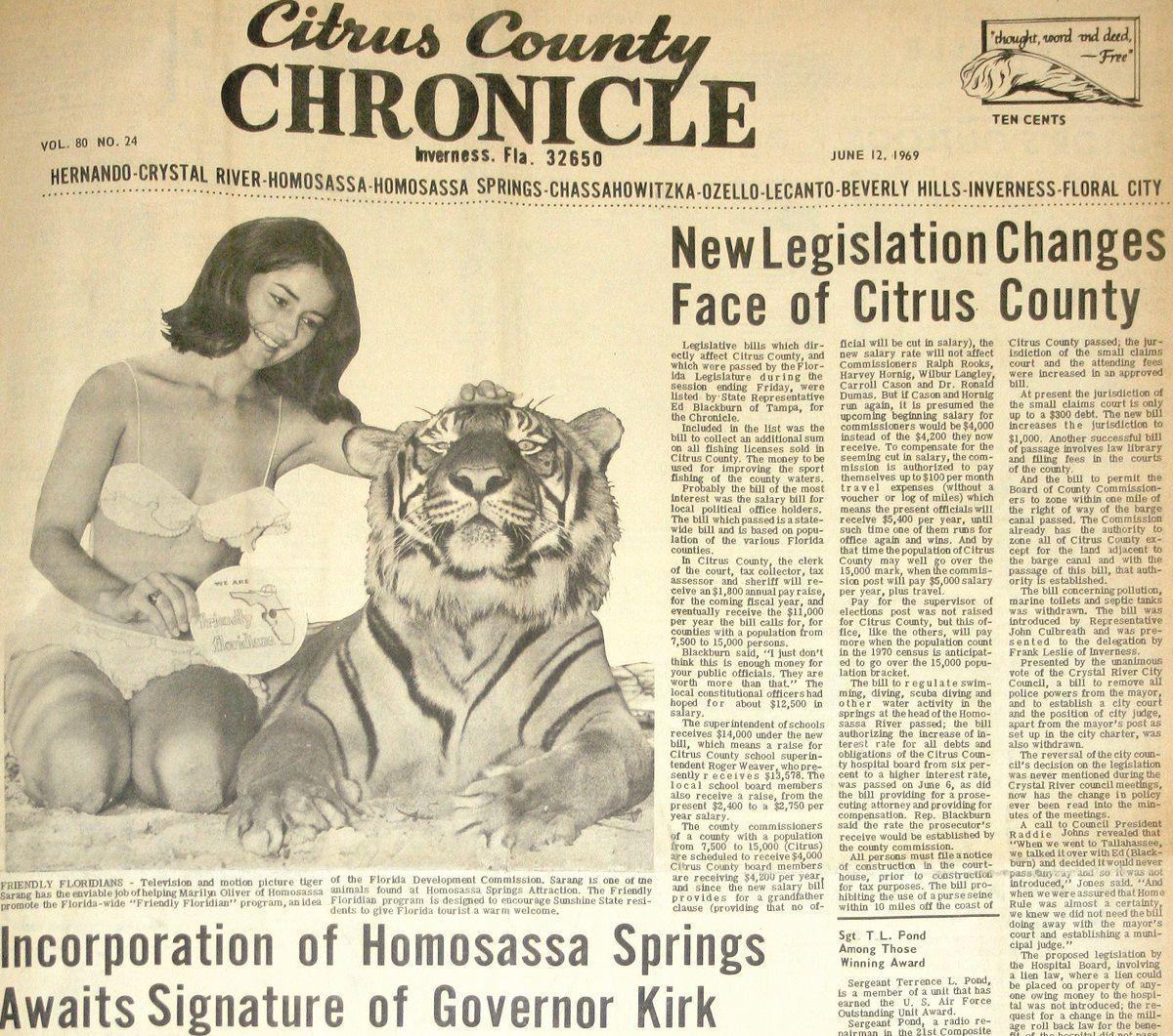 Citrus County Chronicle June 12, 1969