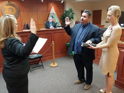 Commissioner Scott Carnahan takes oath of office