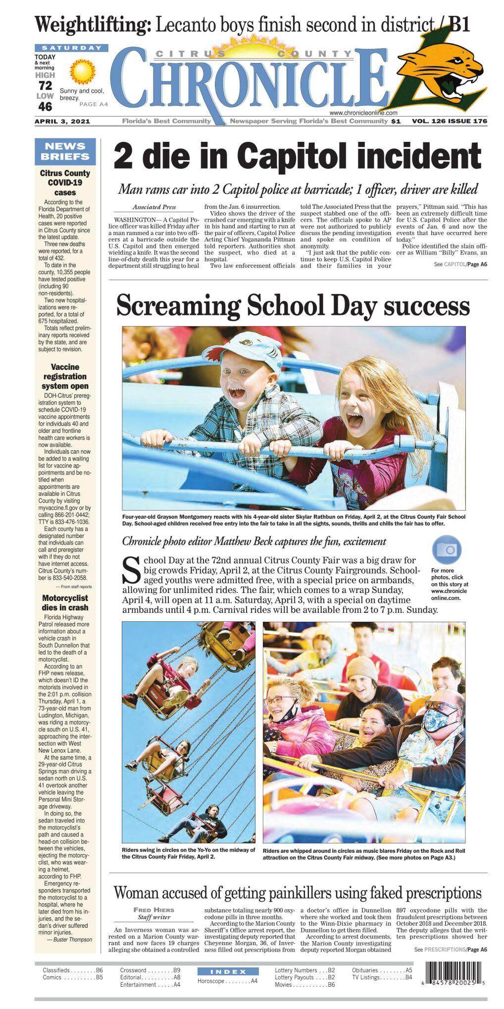 Citrus County Chronicle e-edition Apr 3, 2021