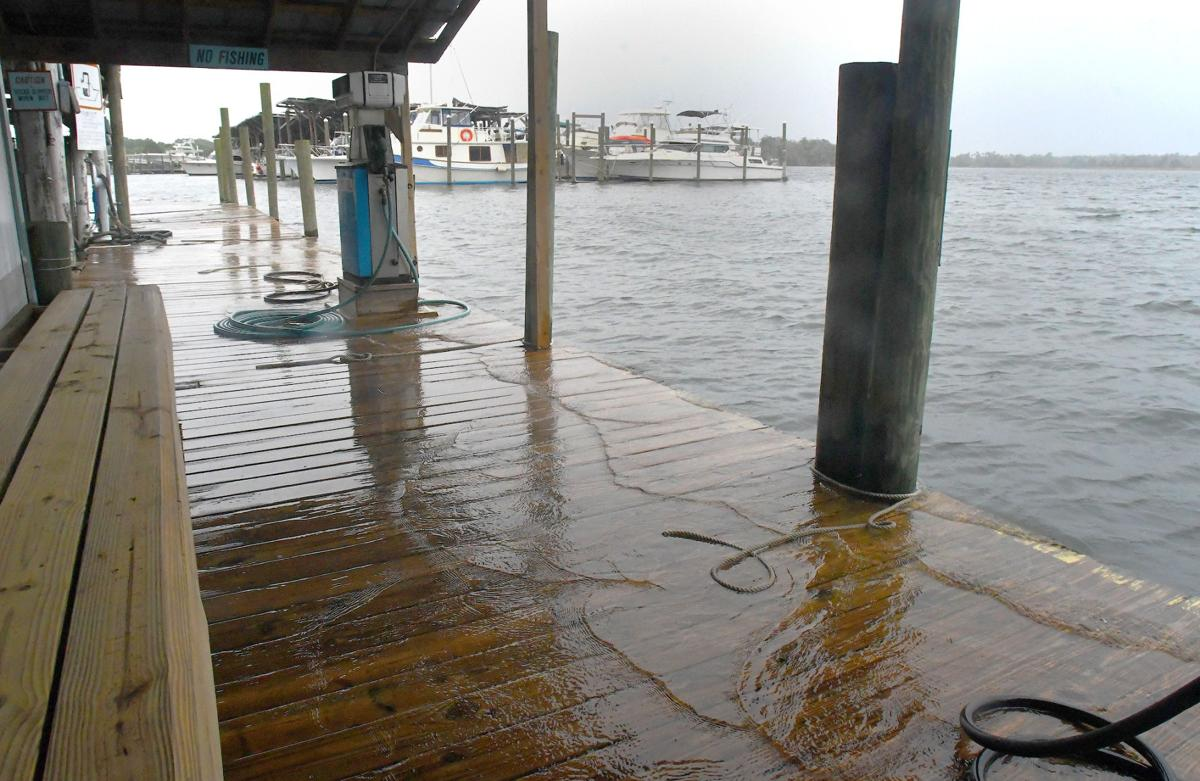 Bay laps at boardwalk at Pete's Pier (File)