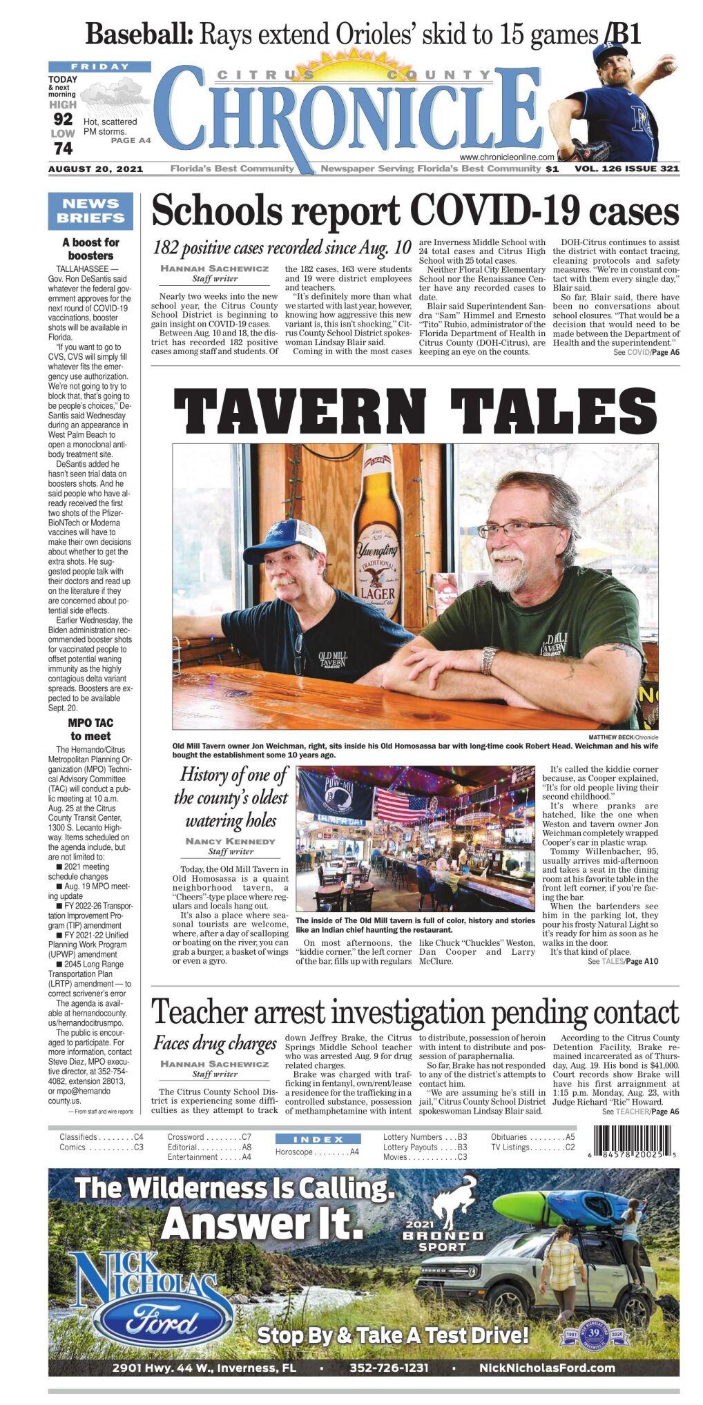 Citrus County Chronicle e-edition Aug 20, 2021