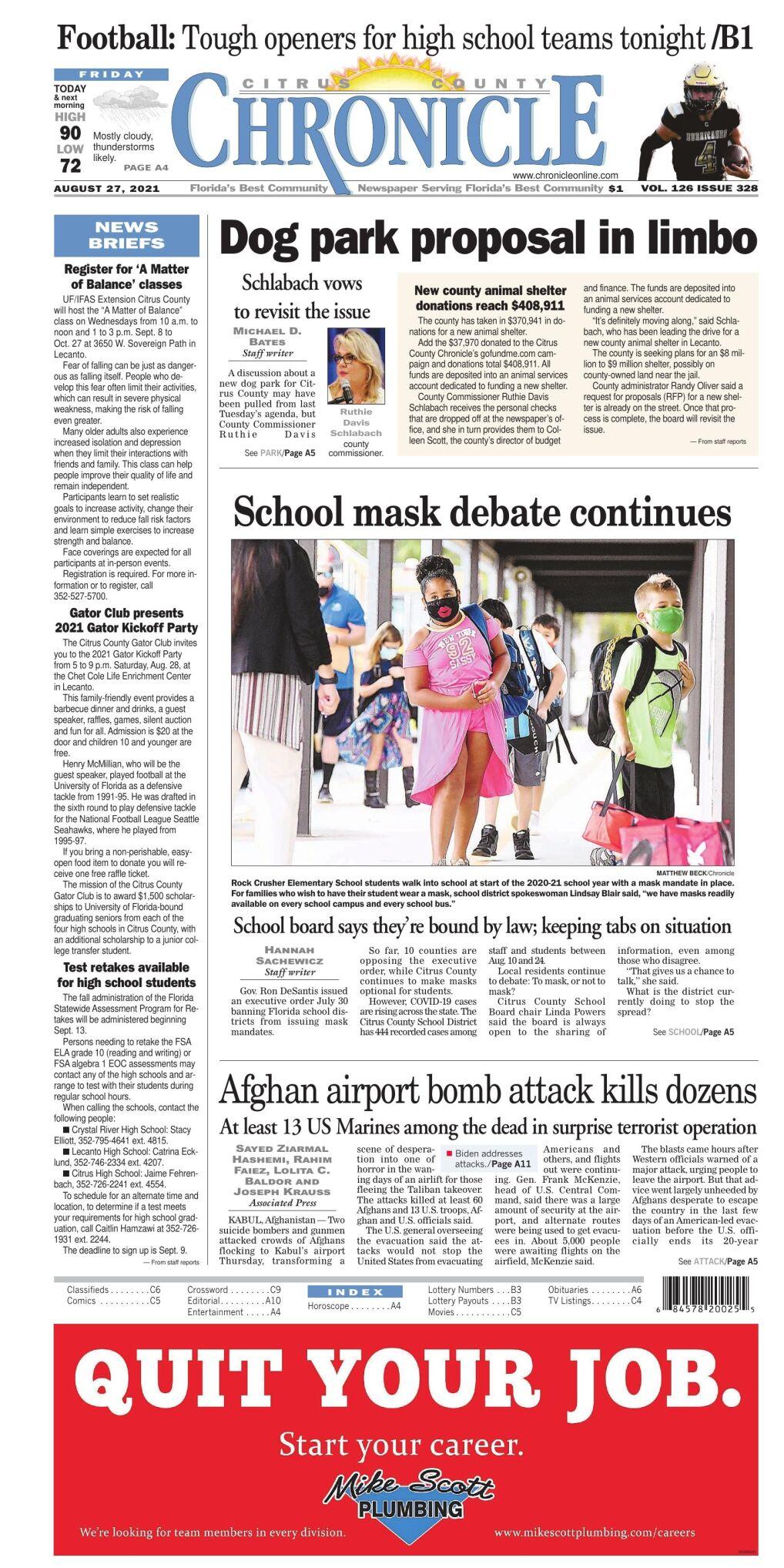 Citrus County Chronicle e-edition Aug 27, 2021