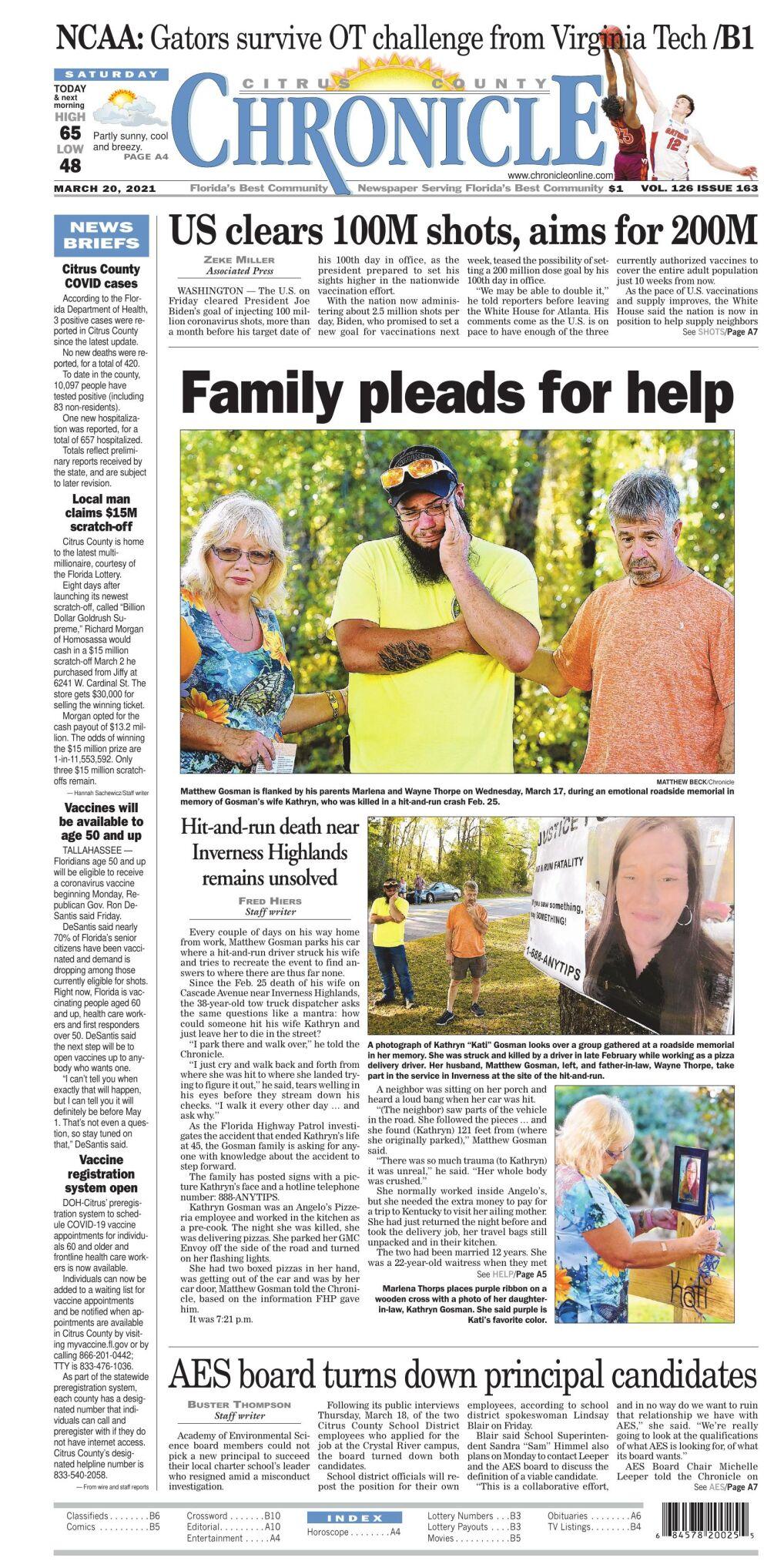 Citrus County Chronicle e edition Mar 20, 2021