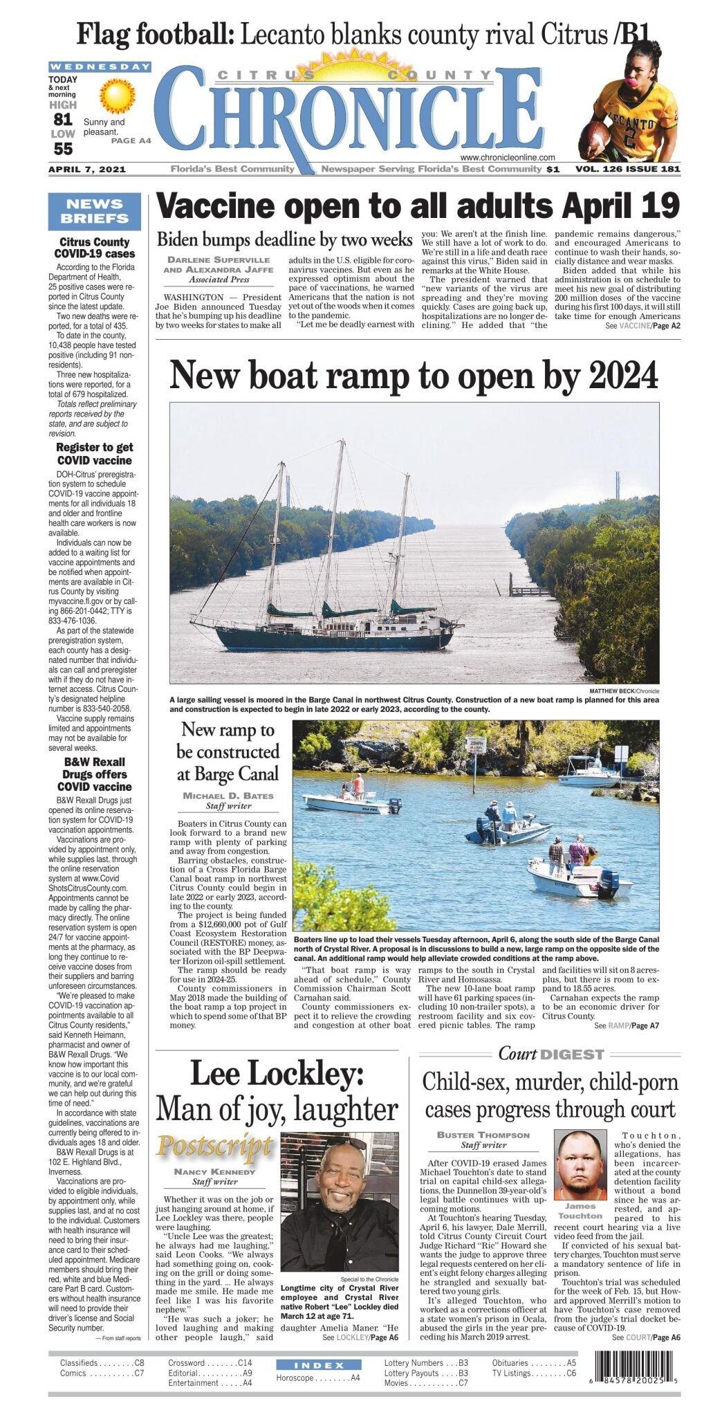 Citrus County Chronicle e edition Apr 7, 2021