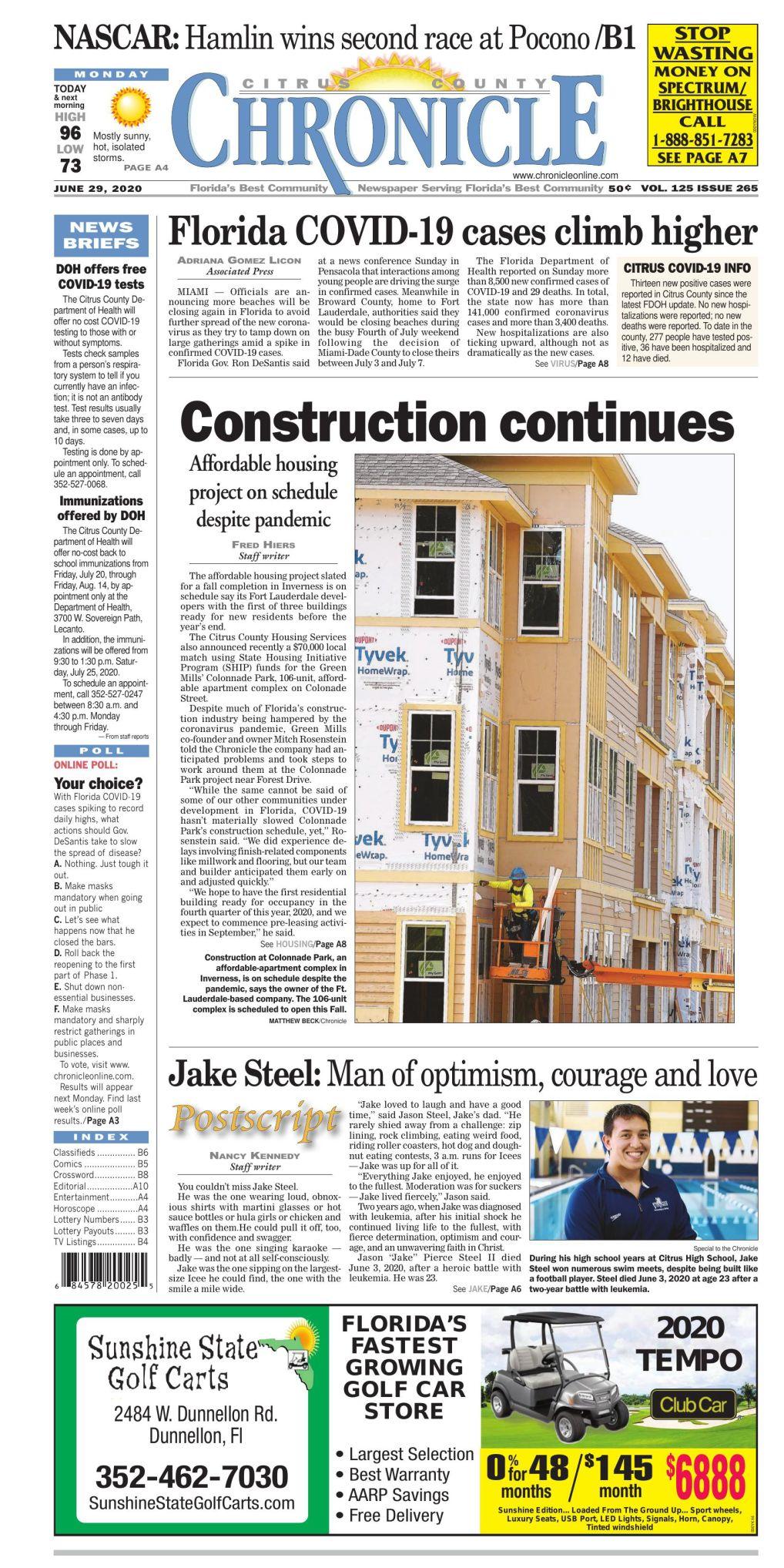 Citrus County Chronicle e-edition June 29, 2020