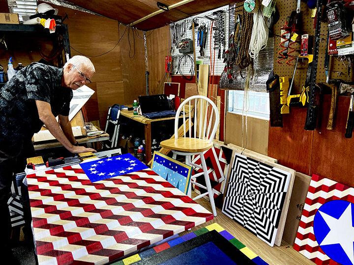 Dan Nichols in his studio