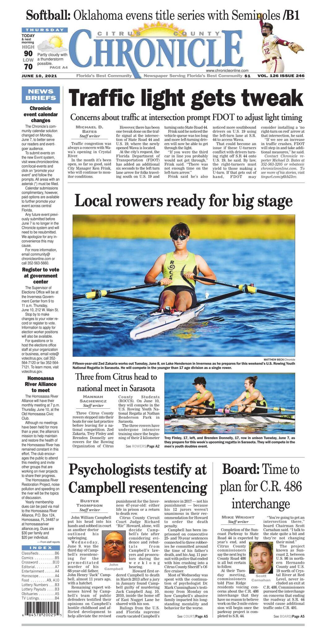 Citrus County Chronicle e edition June 10, 2021