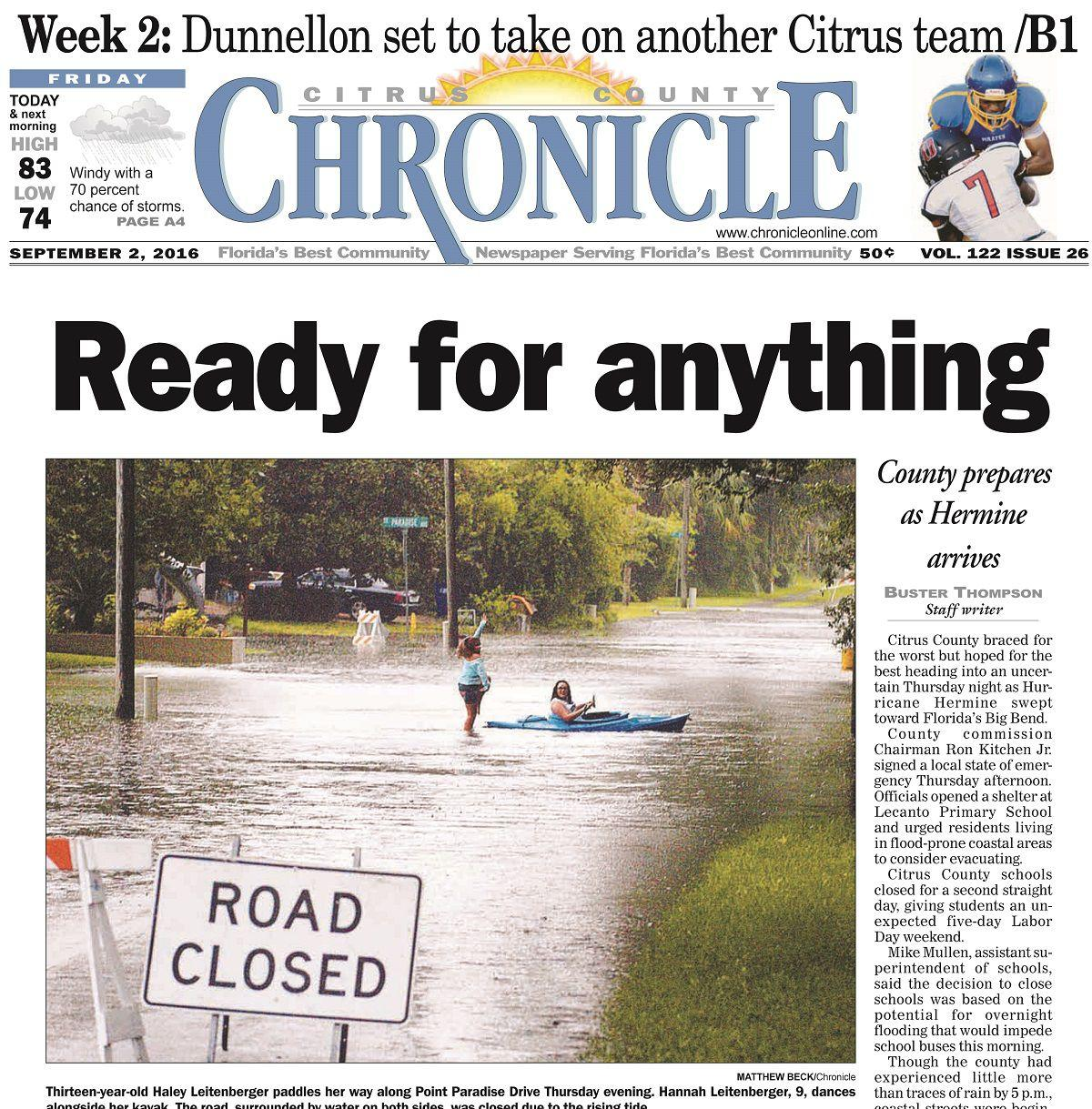 Citrus County Chronicle September 2, 2016