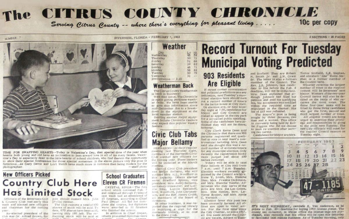 Citrus County Chronicle February 7, 1963