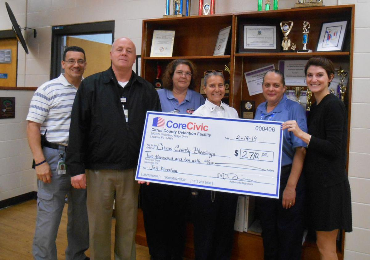 CoreCivic donates to Citrus County Blessings | Lifestyle