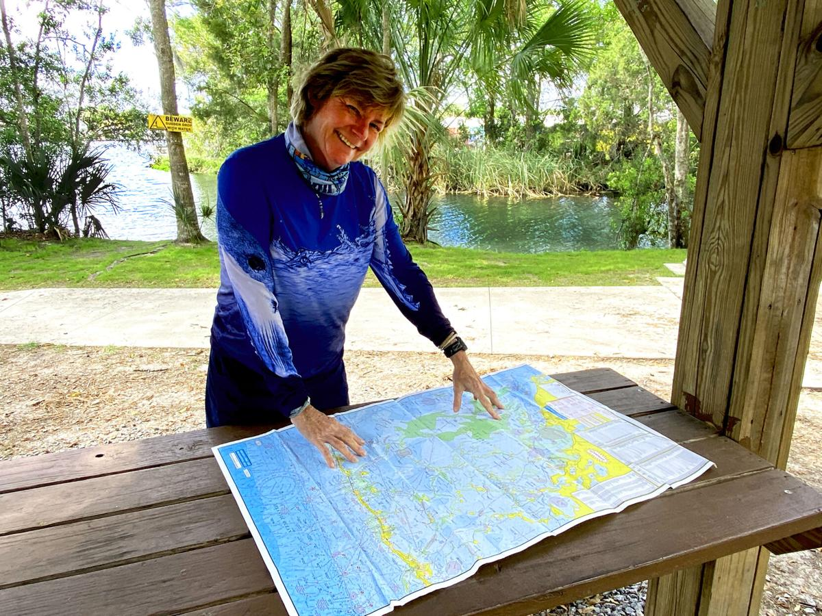 Dorsey DeMaster paddling Florida