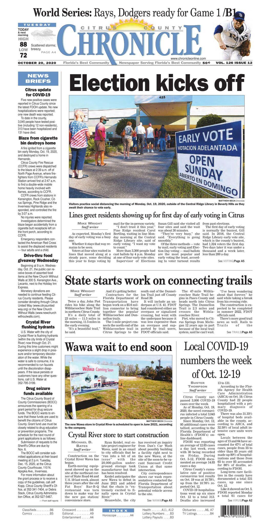 Citrus County Chronicle e-edition Oct 20, 2020