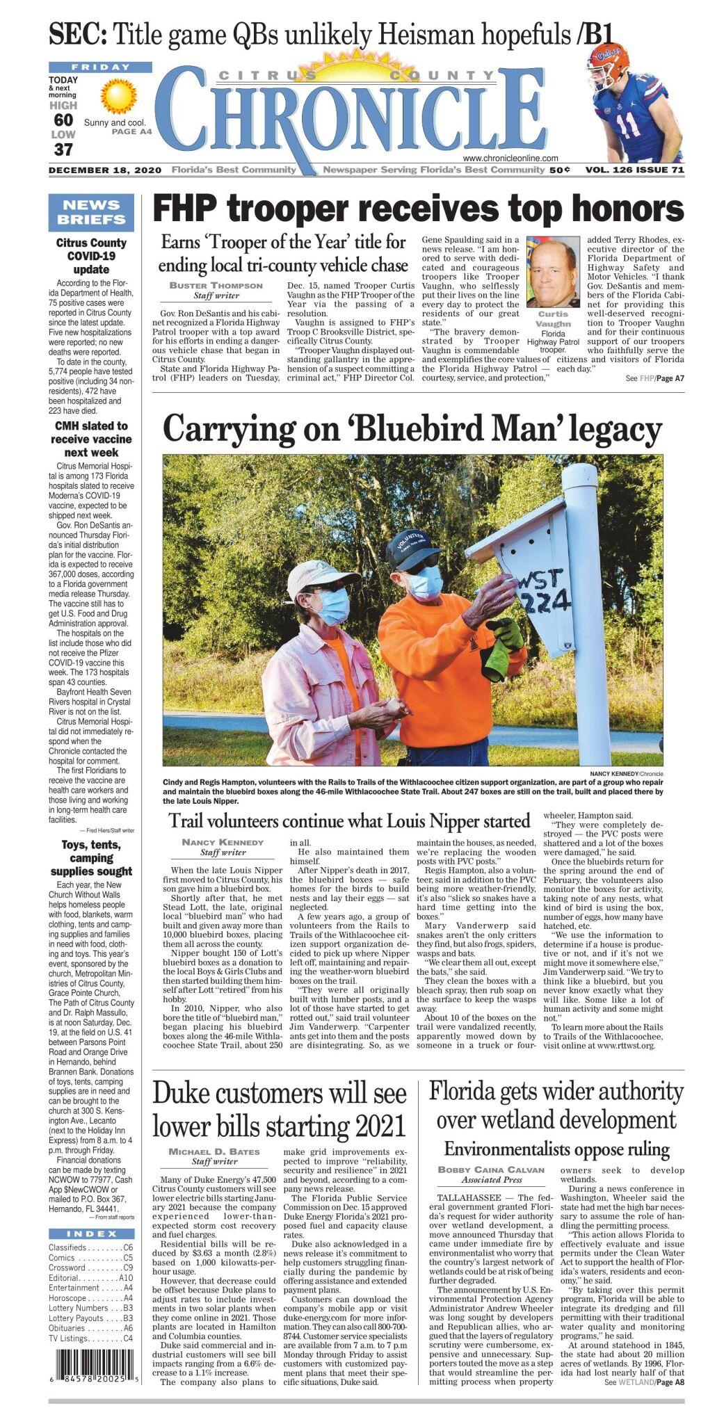 Citrus County Chronicle e edition Dec 18, 2020