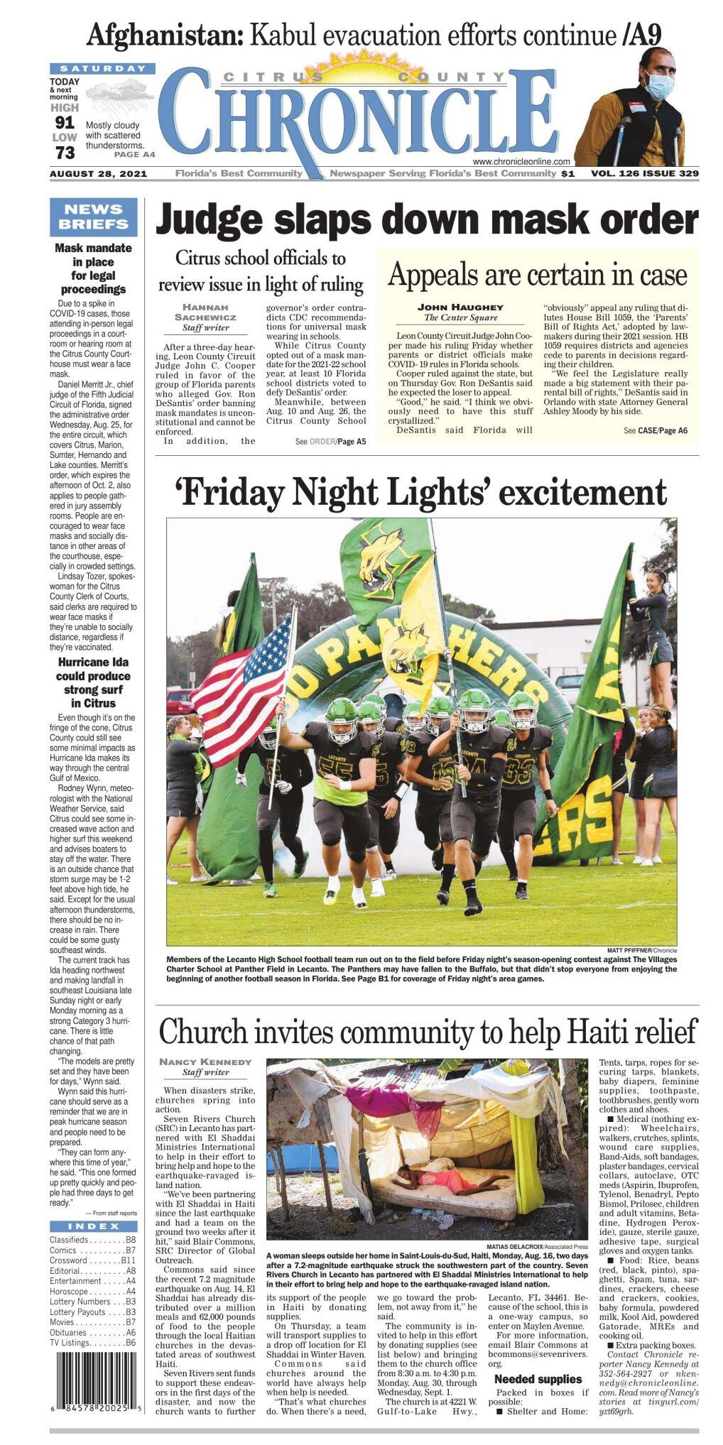 Citrus County Chronicle e-edition Aug 28, 2021