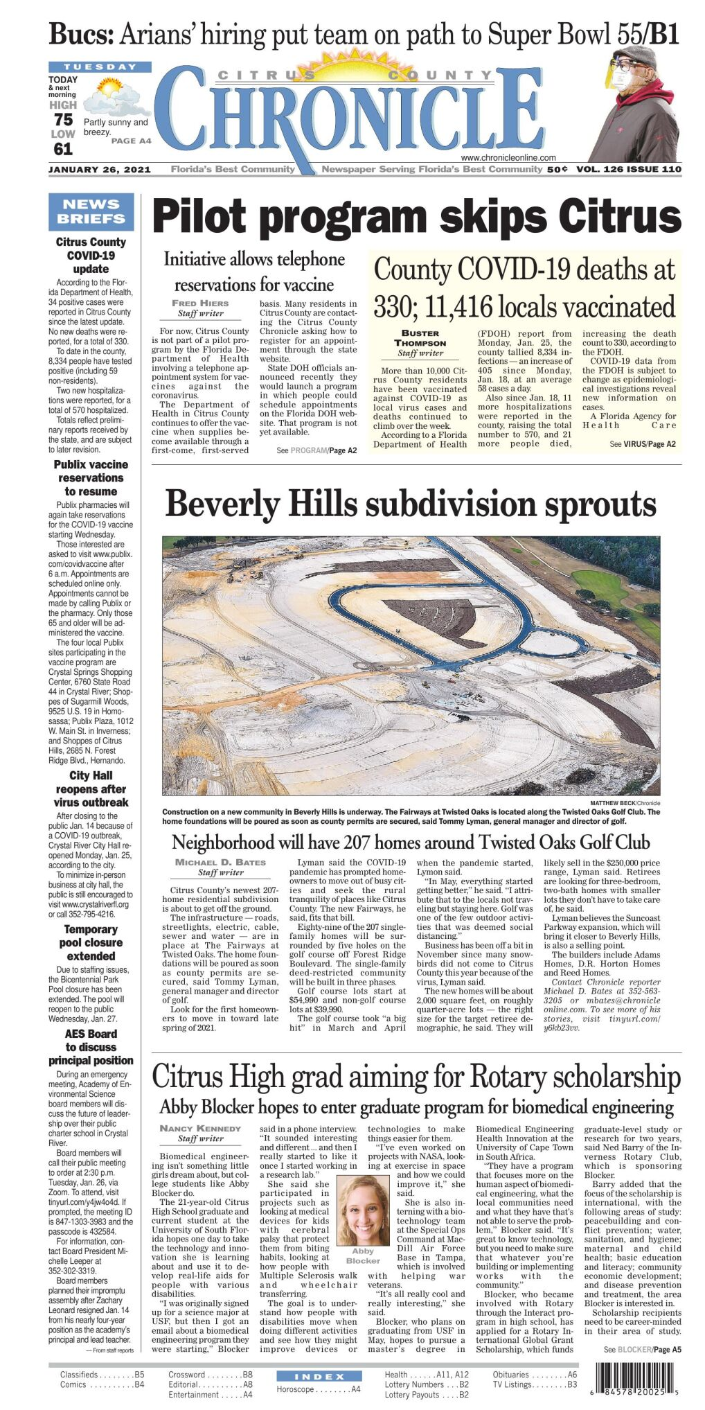 Citrus County Chronicle e edition Jan 26, 2021