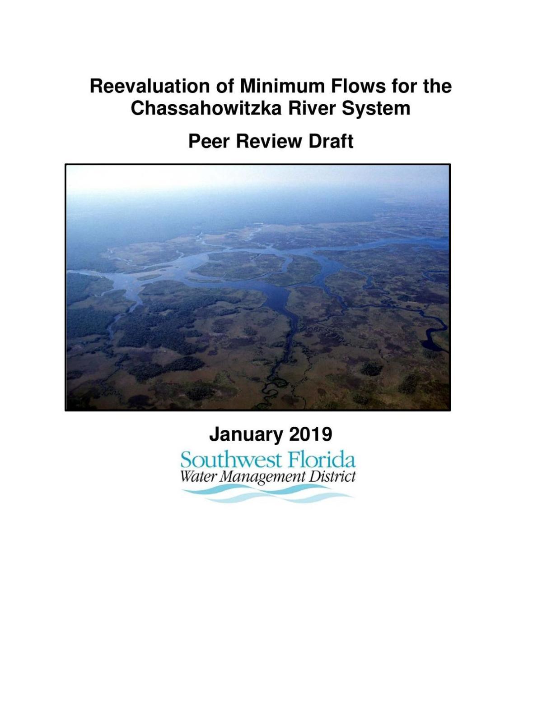 Chassahowitzka River MFL Peer Review Jan., 17 2019
