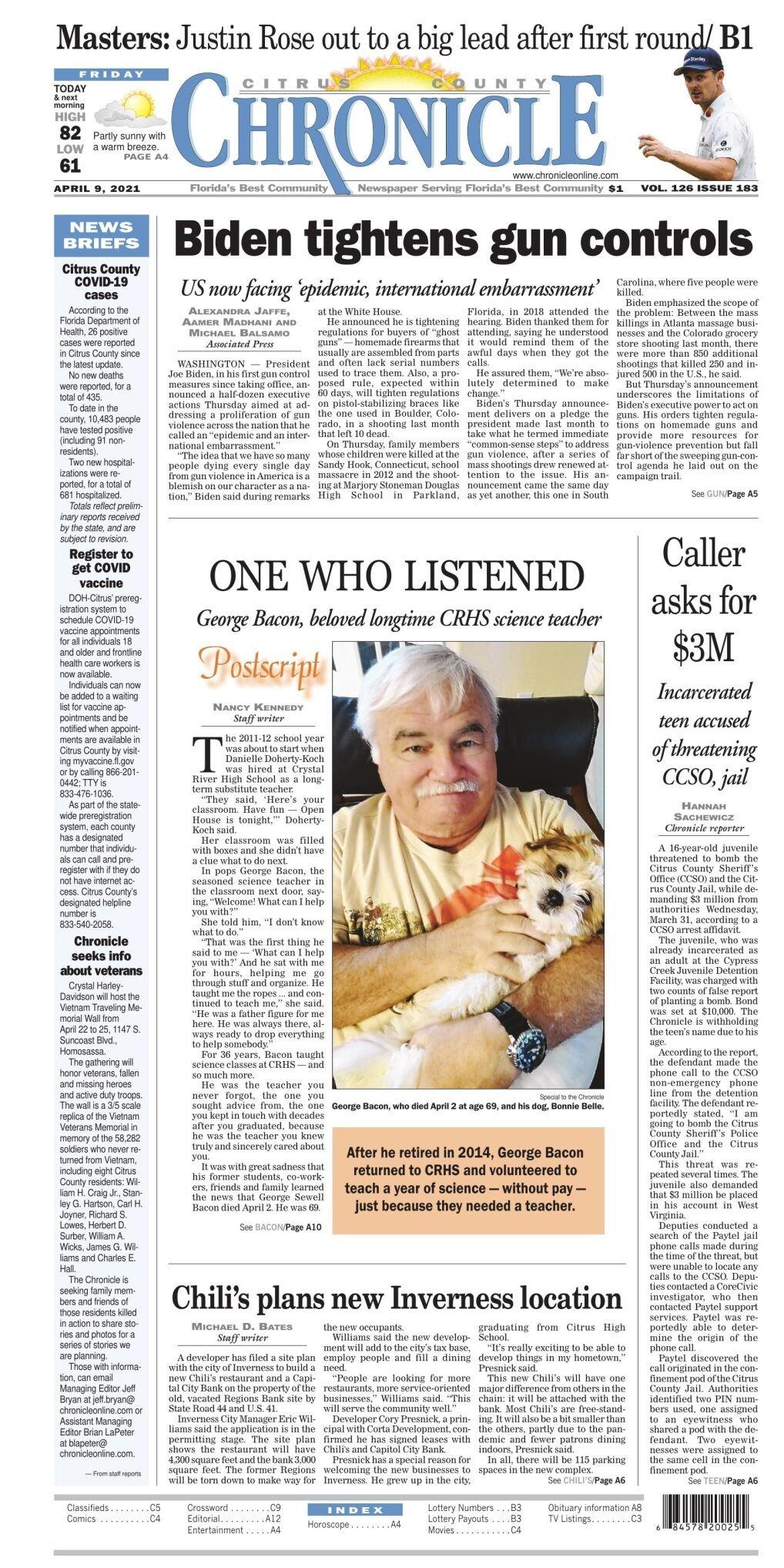 Citrus County Chronicle e edition Apr 9, 2021