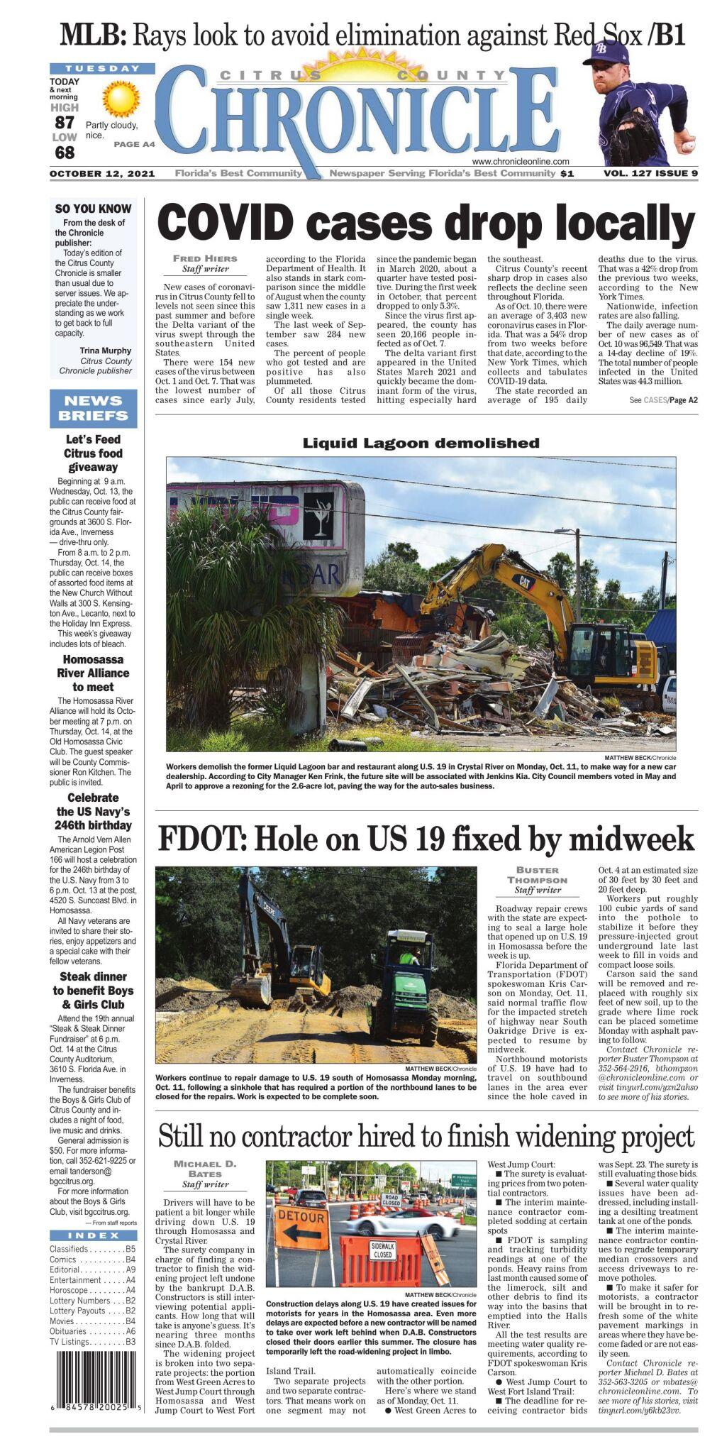 Citrus County Chronicle e-edition Oct 12, 2021