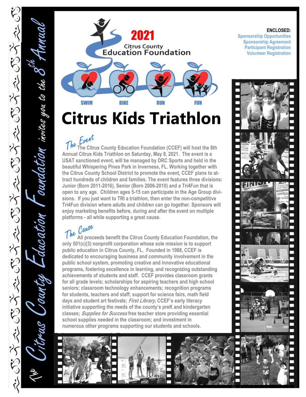 Citrus Kids Triathlon Sponsor Form