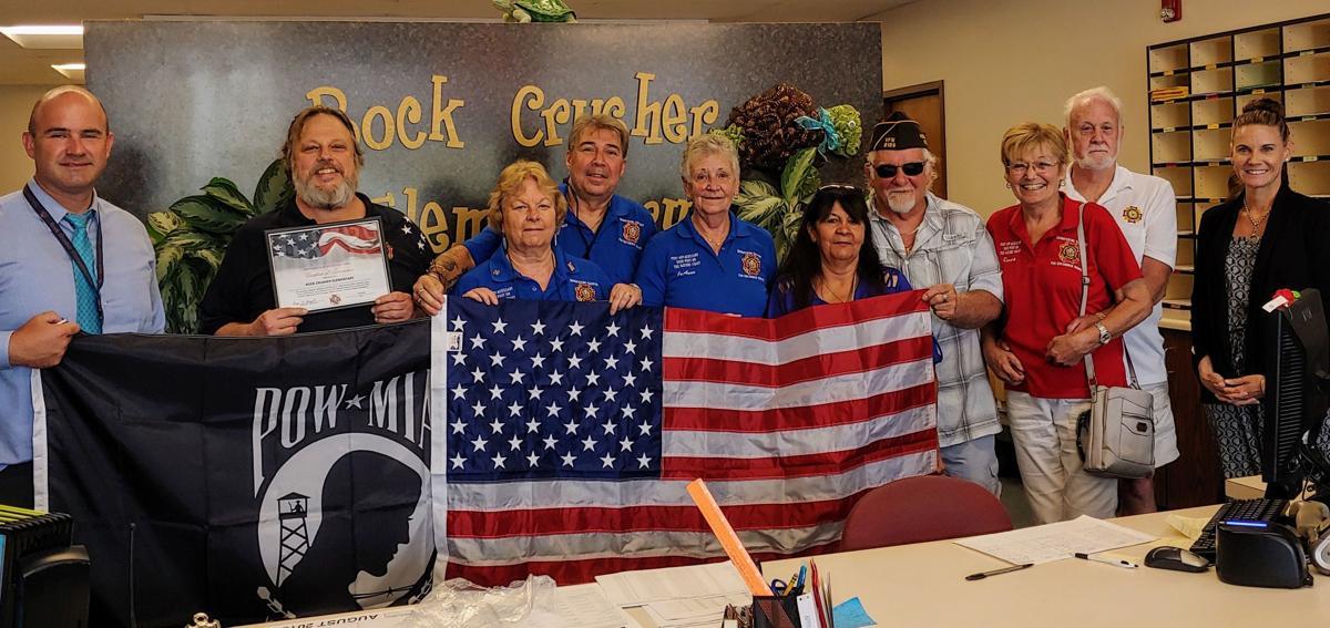 Rock Crusher flag donation