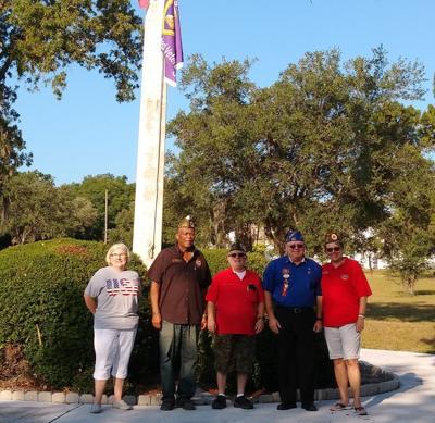 Amvets Post 89 participate in flag raising