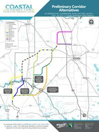 Ocala Florida Map.Coastal Connector Routes Unveiled Local News Chronicleonline Com