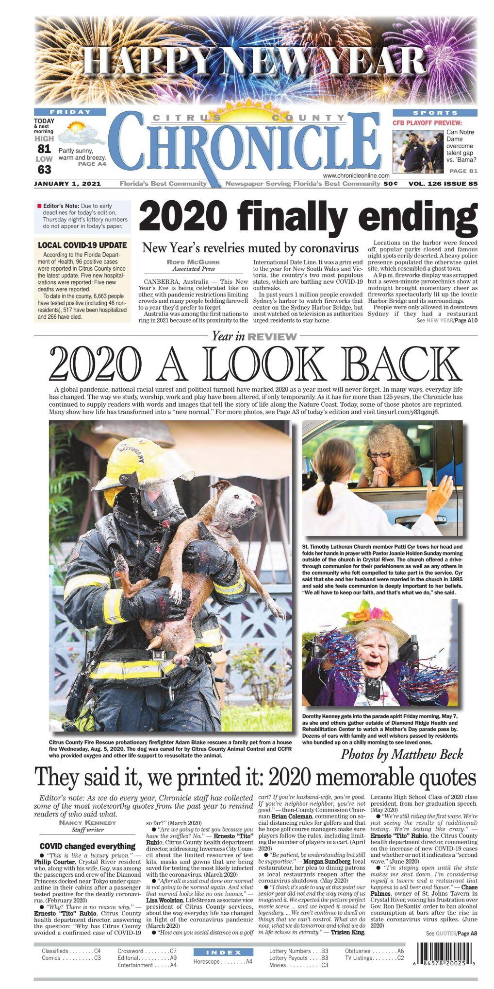 Citrus County Chronicle e-edition Jan 1, 2021
