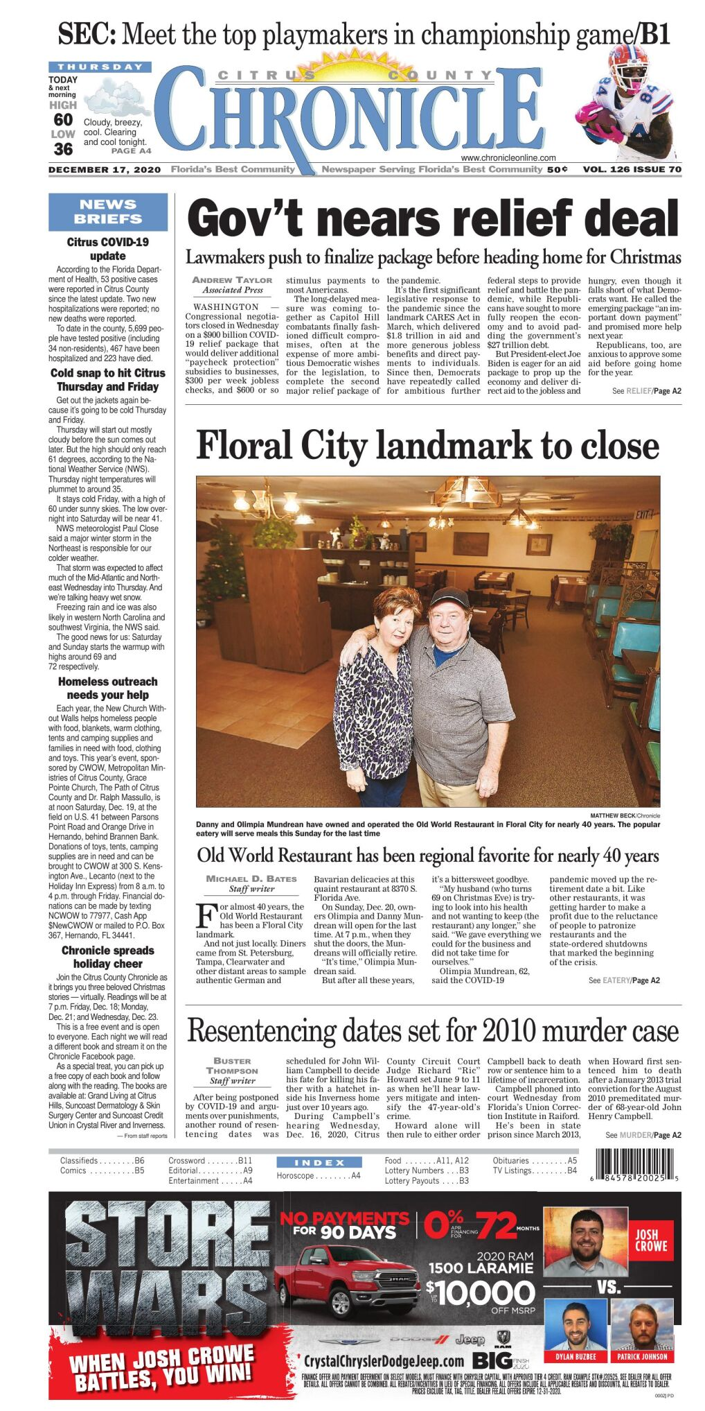 Citrus County Chronicle e edition Dec 17, 2020