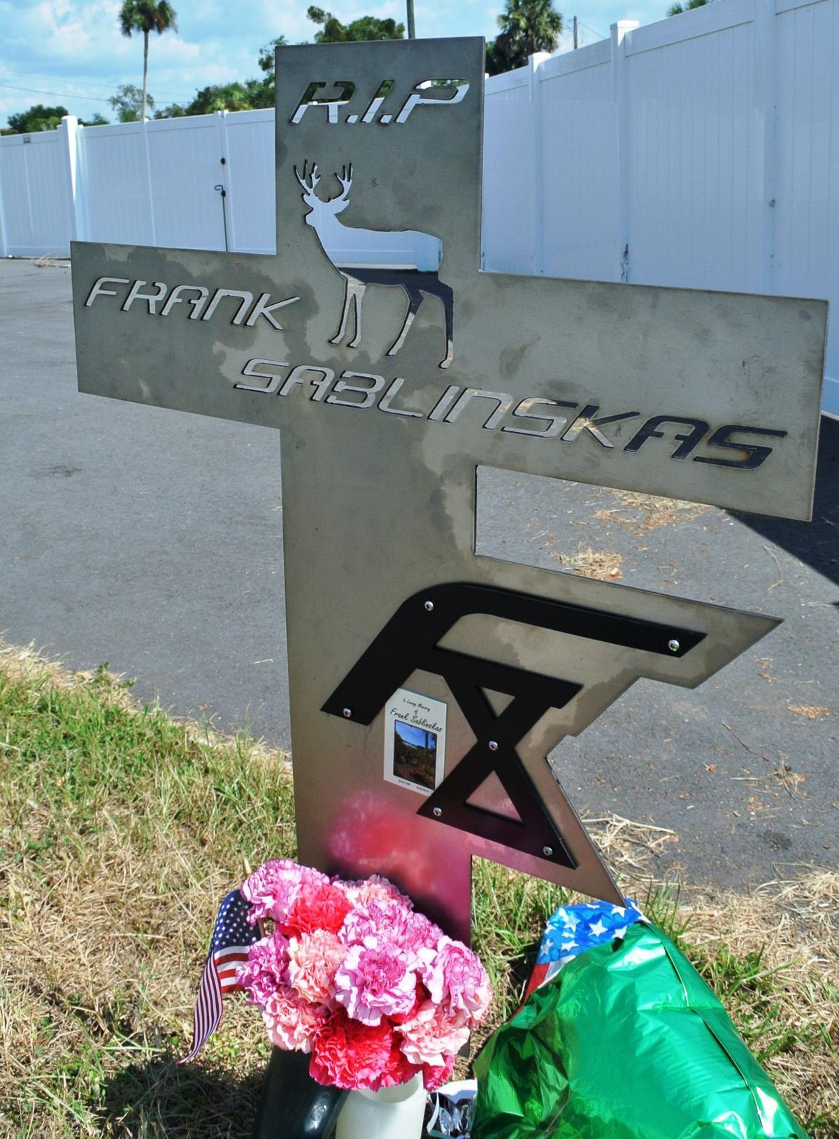 Frank Sablinskas roadside memorial