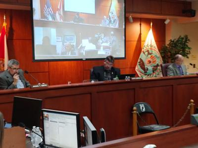 County commissioners meet remotely