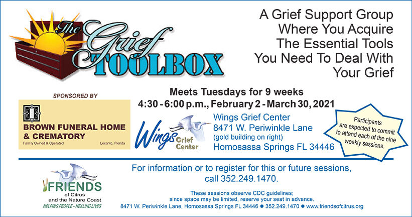 """Details for """"The Grief Toolbox"""" Support Group"""