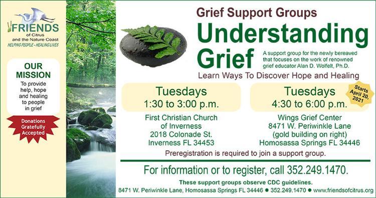 "Details for ""Understanding Grief"" Support Group in Homosassa Springs"