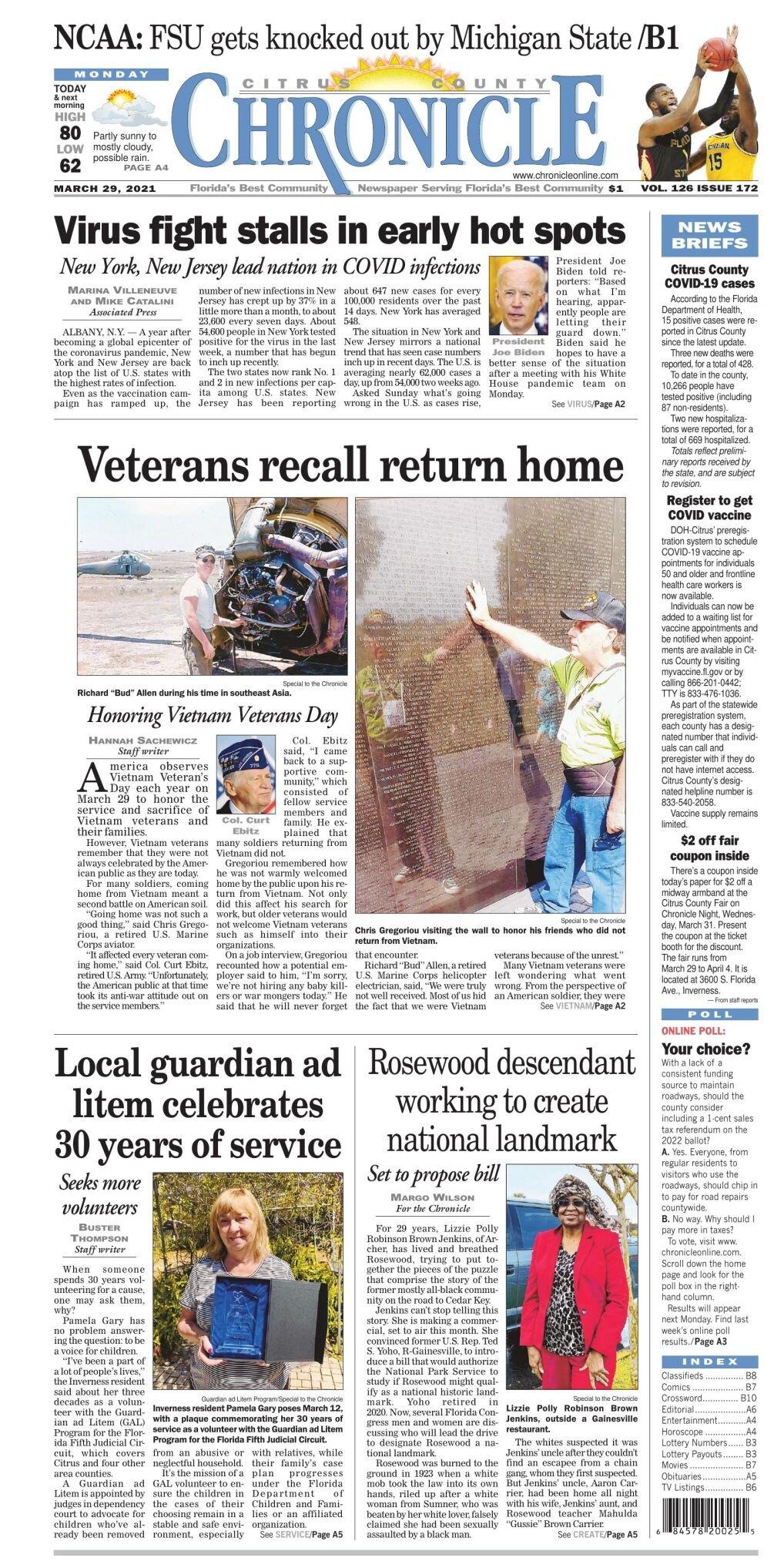 Citrus County Chronicle e edition Mar 29, 2021