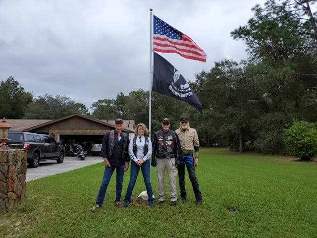 Rolling Thunder Flag Installation