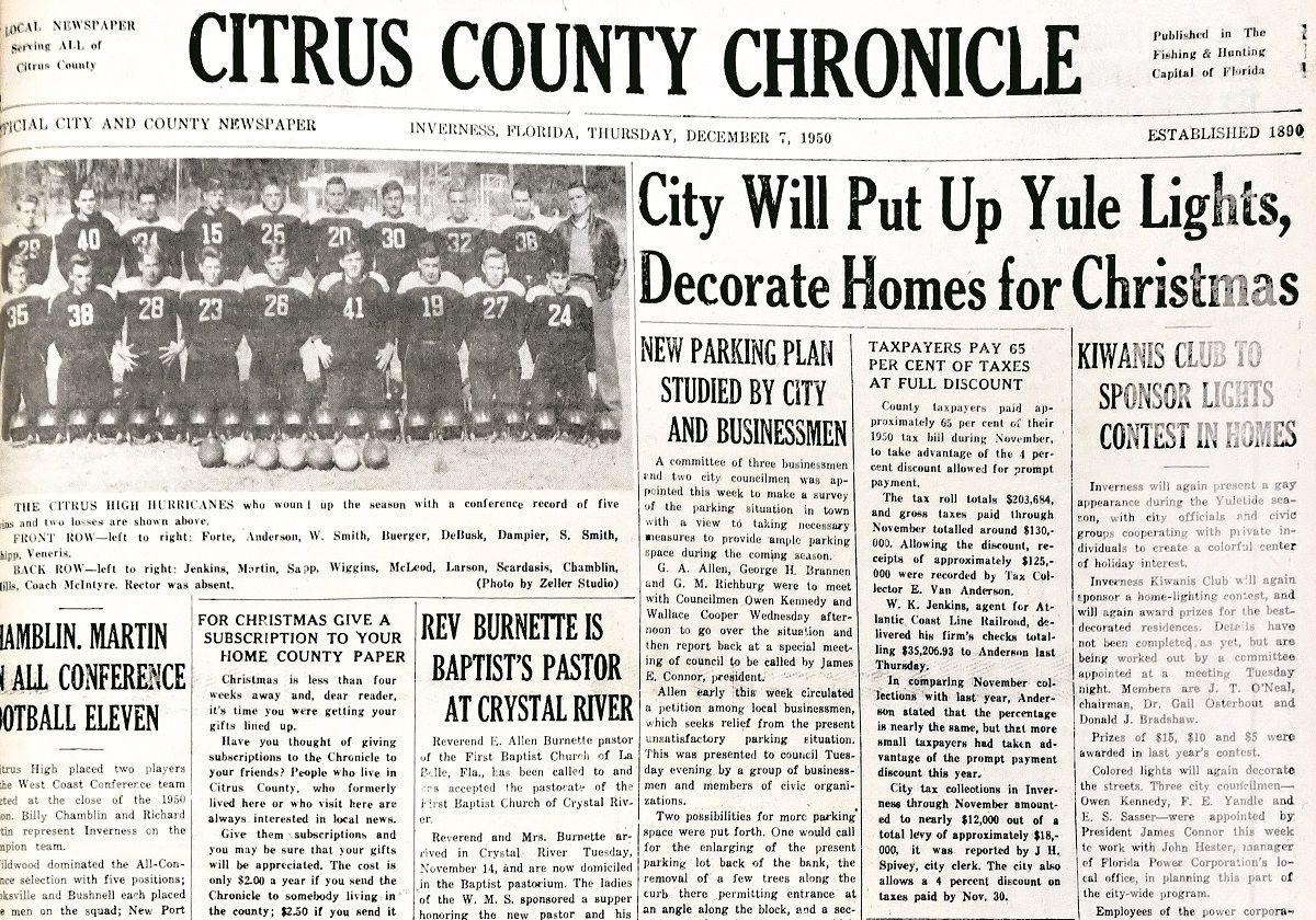 Citrus County Chronicle December 7, 1950