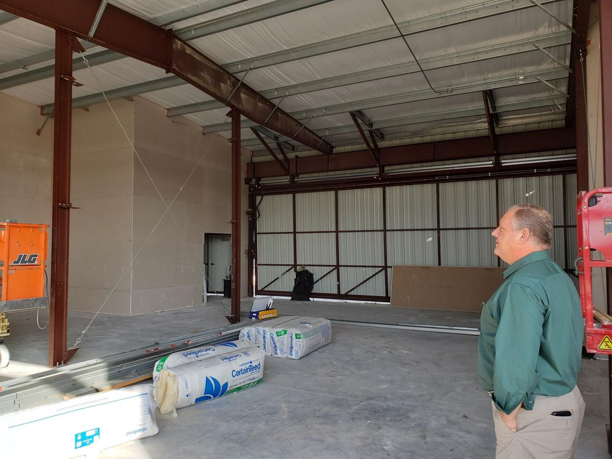 Improvements underway at Crystal River Airport: T-hangar interior