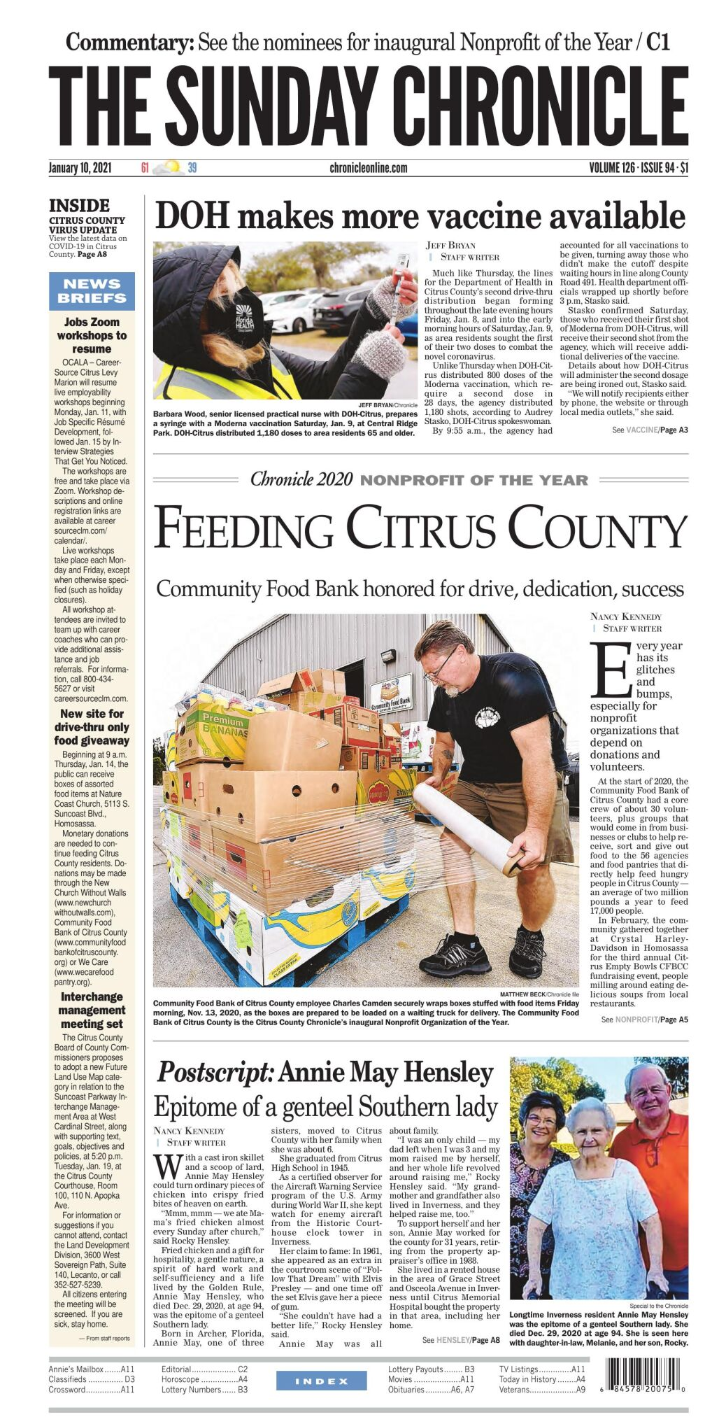 Citrus County Chronicle e-edition Jan 10, 2021