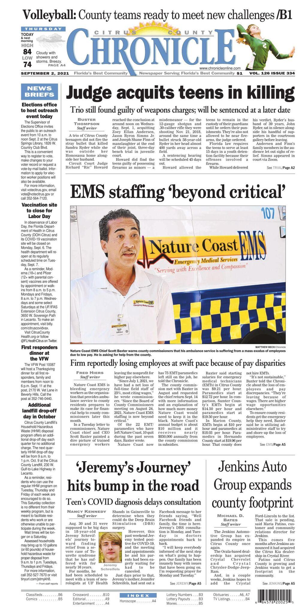 Citrus County Chronicle e-edition Sep 2, 2021