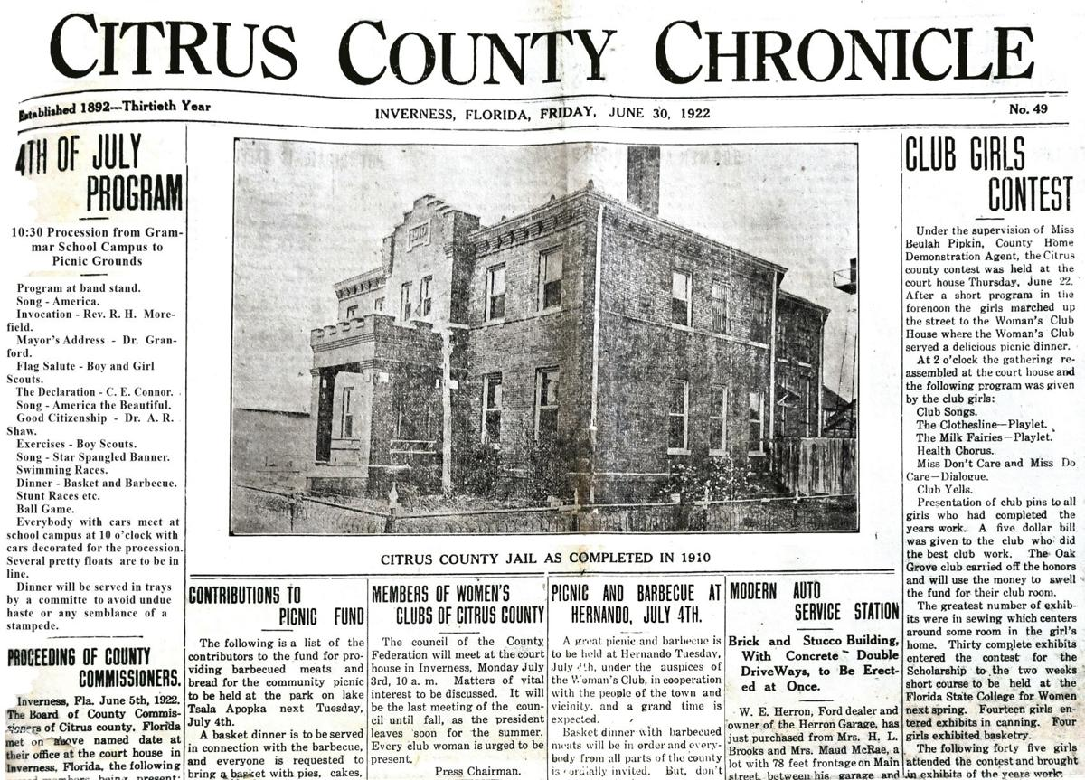 Citrus County Chronicle June 30, 1922