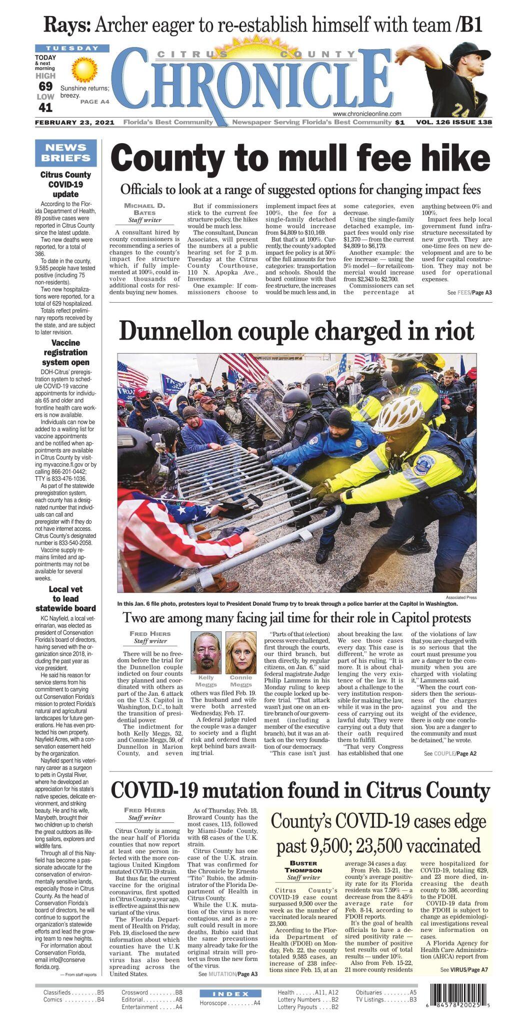 Citrus County Chronicle e edition Feb 23, 2021