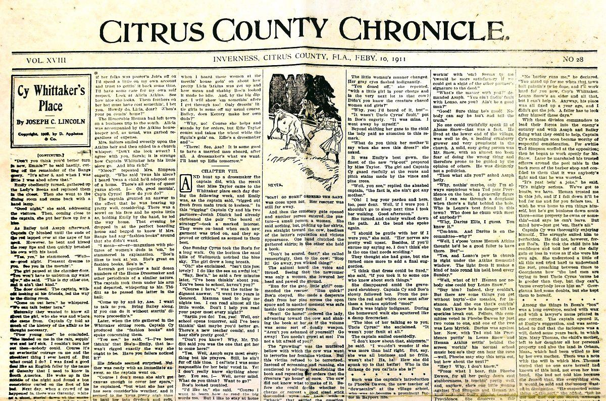 Citrus County Chronicle February 10, 1911