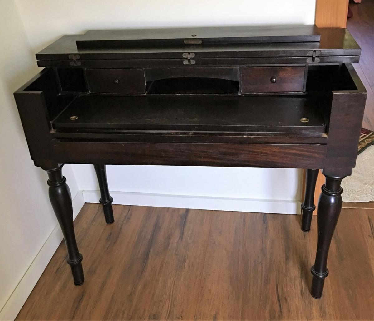 Antique desk has its roots in an old musical instrument - Antique Desk Has Its Roots In An Old Musical Instrument Real