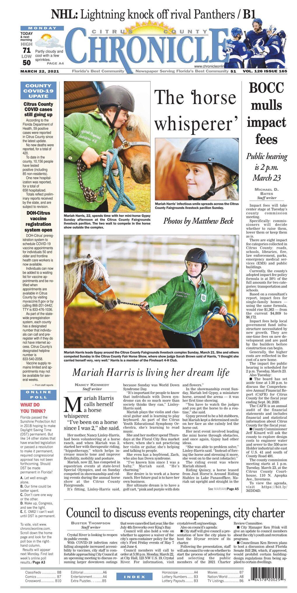 Citrus County Chronicle e edition Mar 22, 2021