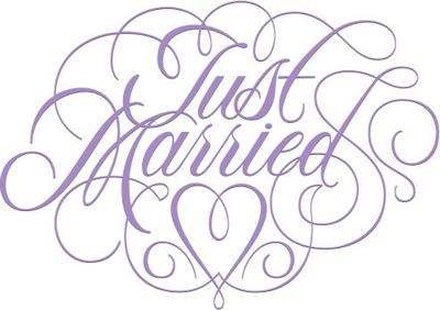 Just married LOGO for marriage news of record