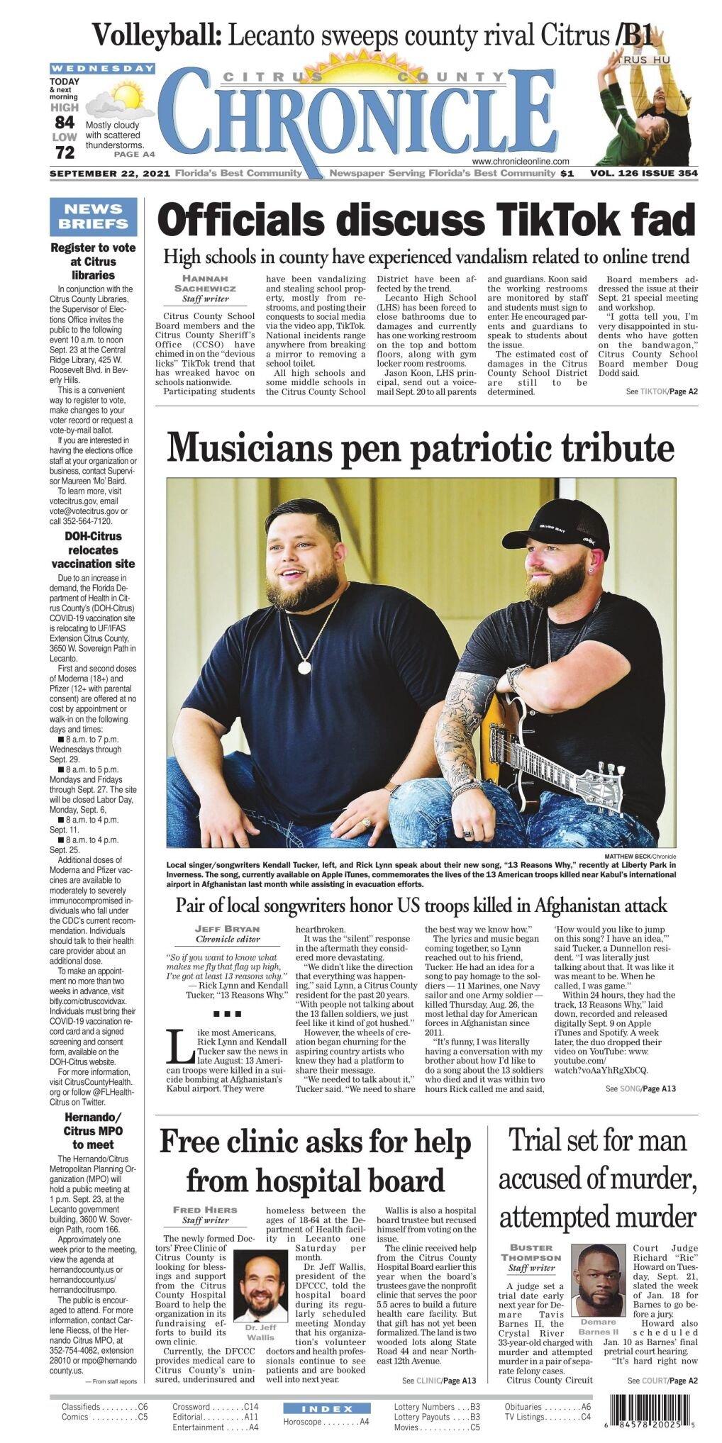 Citrus County Chronicle Sep 22, 2021 e-edition