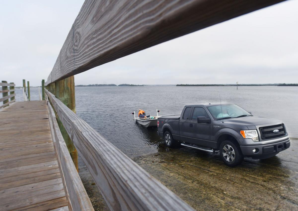 Ft. Island Beach boat ramp