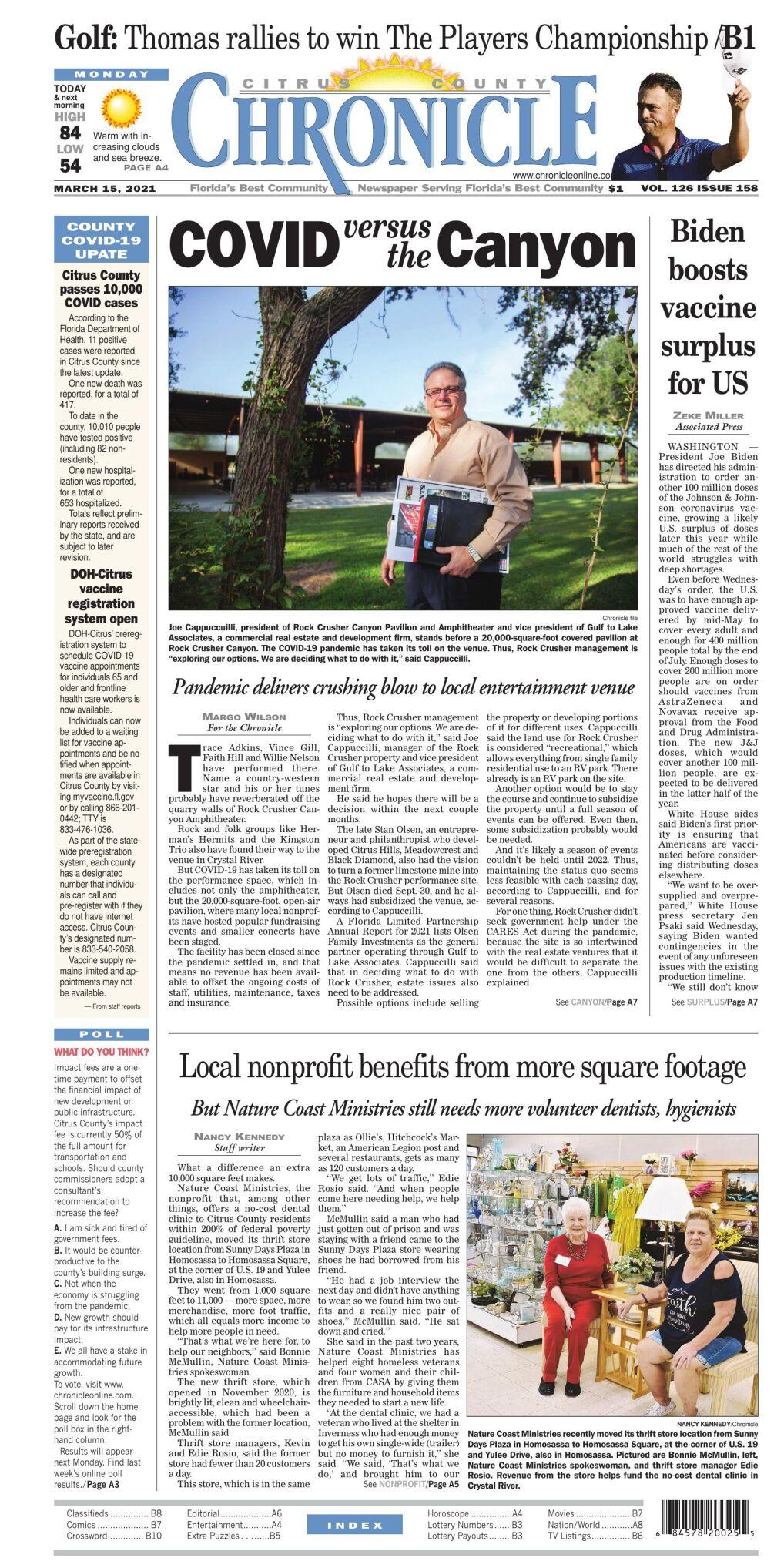 Citrus County Chronicle e edition Mar 15, 2021