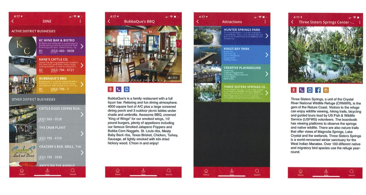 Crystal River Main Street App Screenshots