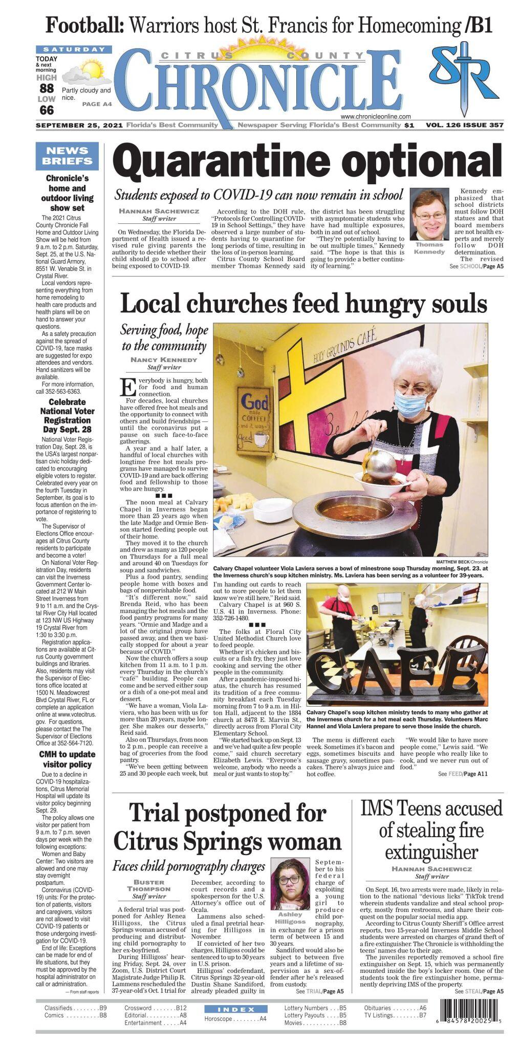 Citrus County Chronicle e-edition Sep 25. 2021