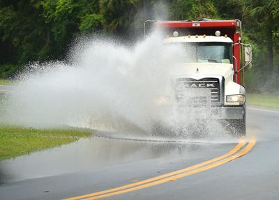 Roads still wet